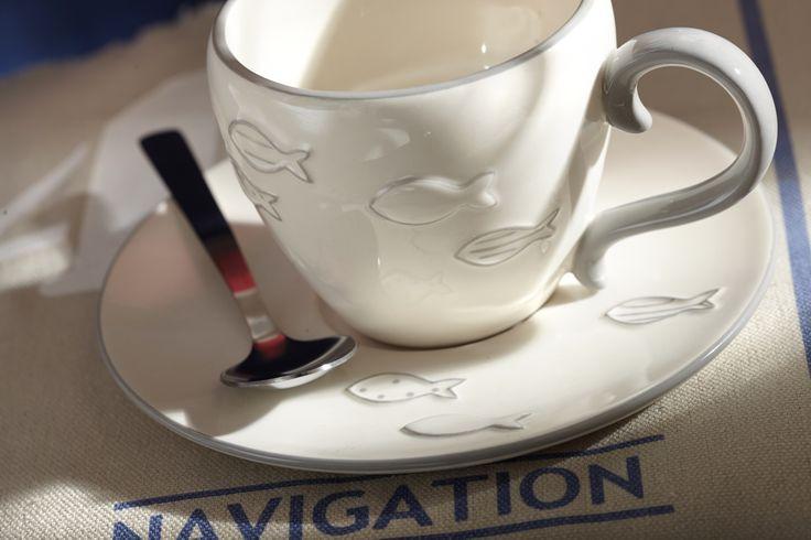 #Tasse à #café. Collection Oh un poisson. #AMADEUS.