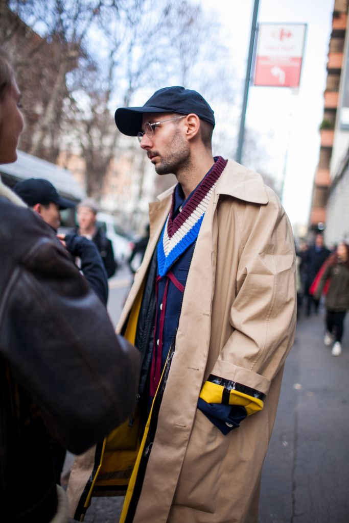 Street style at Milan Fashion Week Men's fall 2017.