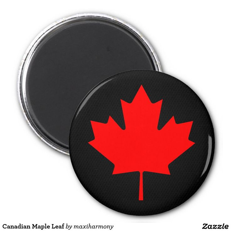 Canadian Maple Leaf 2 Inch Round Magnet