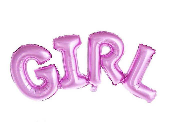girl Balloon, helium balloon girl, girl boy Balloon, baby shower Balloon, gender reveal