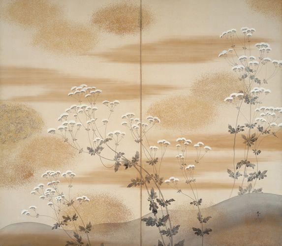 菱田春草 Shunso Hishida『秋草』(1902)水野美術館蔵