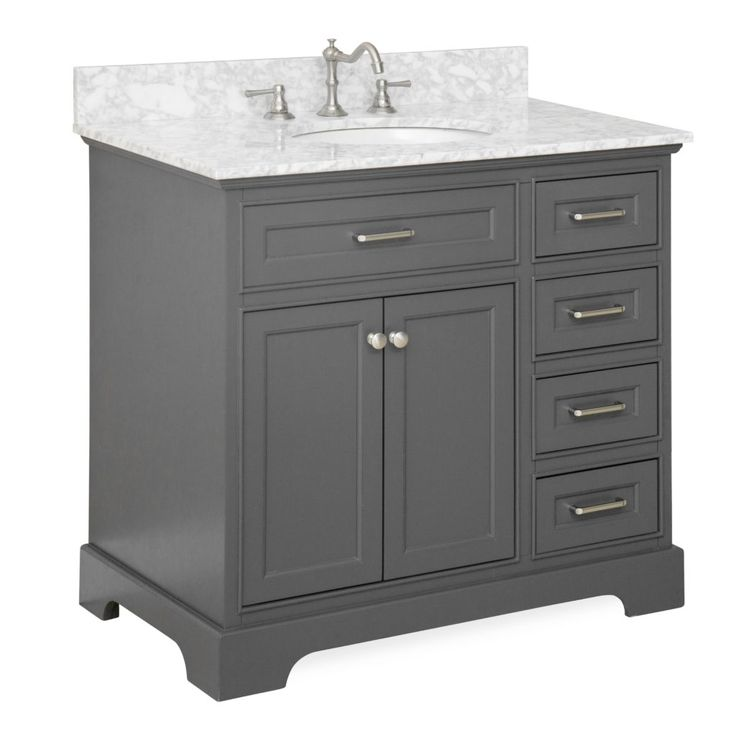 White 36 Bathroom Vanity Without Top