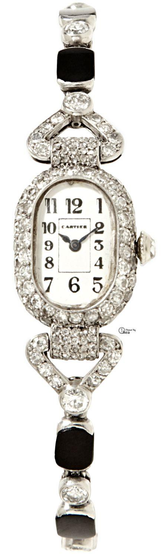 Rosamaria G Frangini | High WATCHES Jewellery  | Cartier ~ Art Deco Onyx And Diamond Watch