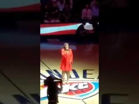 OKC Thunder Game, National Anthem, Monea Brown - YouTube