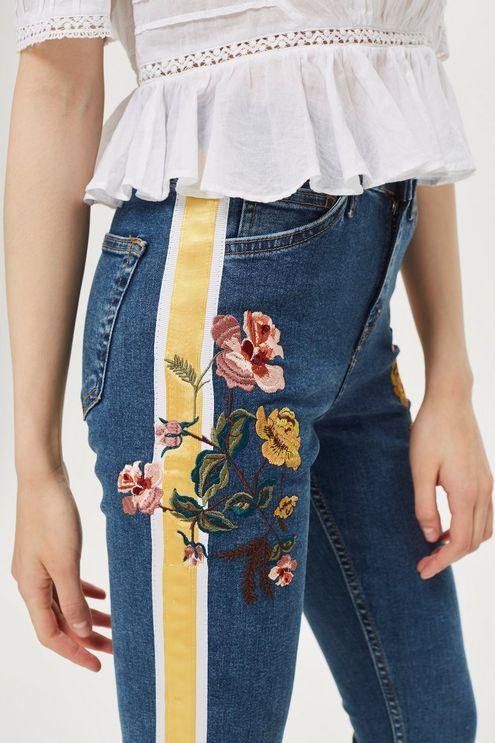2dde670a Mid Blue Embroidered Side Stripe Jamie Jeans | DENIM | Zara jeans ...