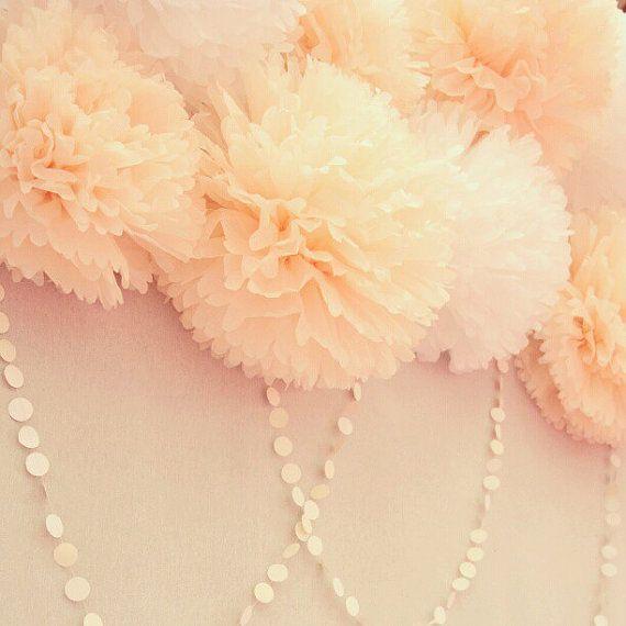 10 Poms. Wedding Decoration / Bridal Shower / Birthday / Party Decoration / DIY