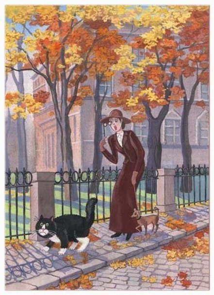 Cat and people paintings. Tatyana Rodionova.