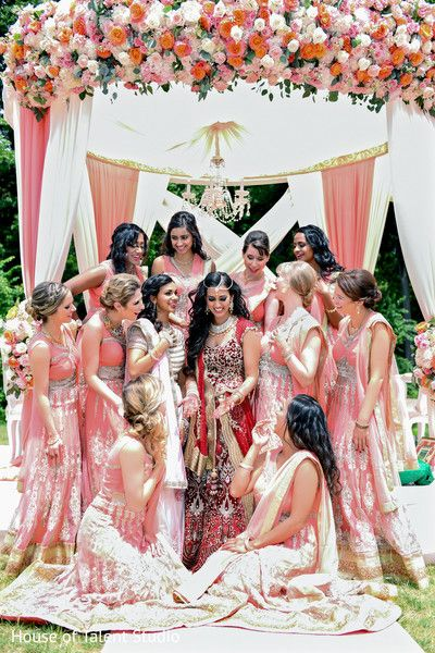 Lovely maharani with bridesmaids