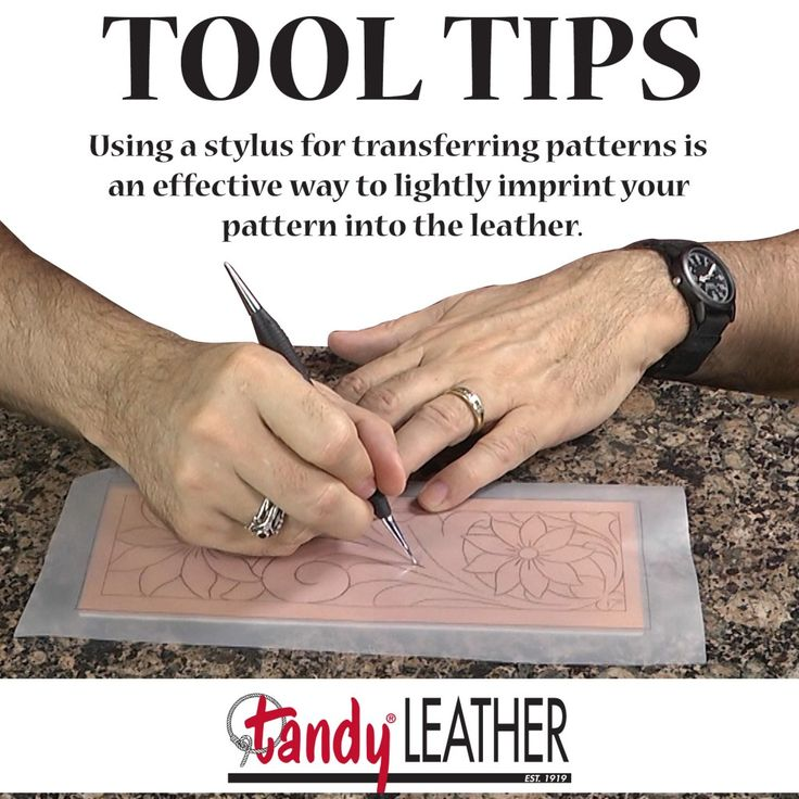 Tandy Leather Leathercraft Tool Tip: Tracing With A Stylus