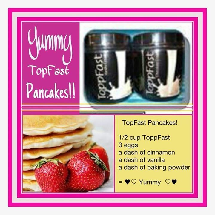 Great pancake recipe using ToppFast meal replacement powder! Easy to customize and fast to make on busy mornings! Never sacrifice your healthy metabolism by going without a meal!  www.sabaforlife.com/getfitwithsaba