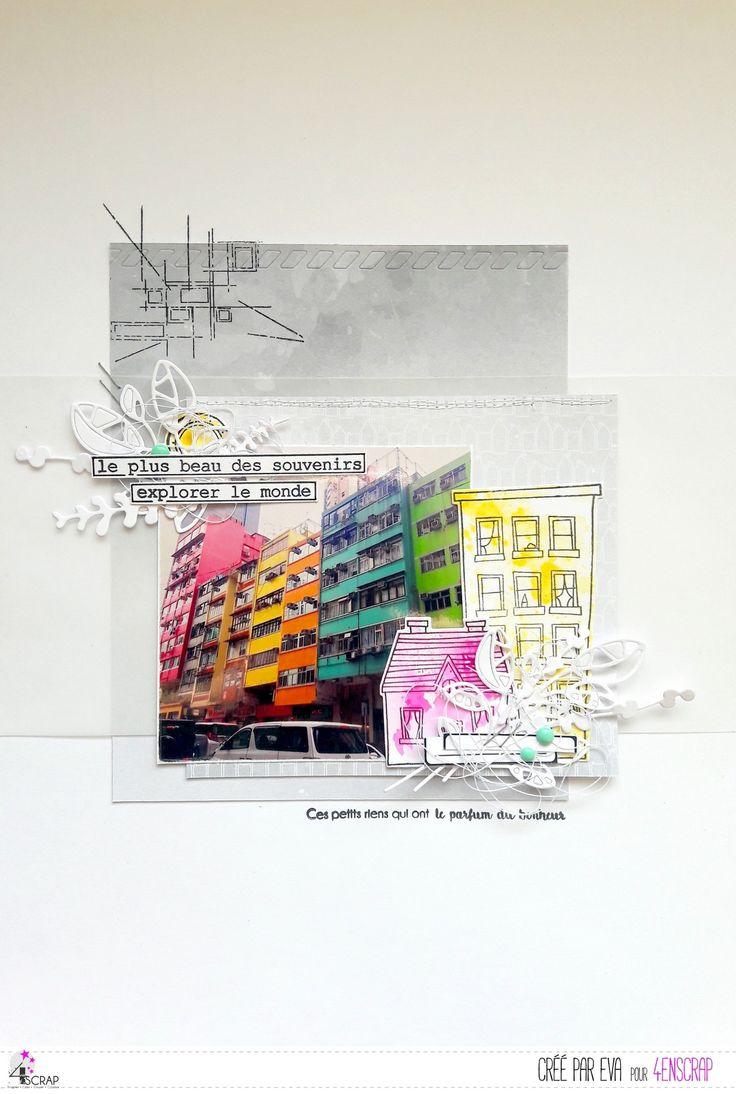 """Eva : Tampons et matrices de coupe (dies) #4enSCRAP """"Fonds grunge #2"""""""