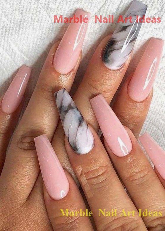 25 Marmornagel Design mit Wasser & Nagellack #nailideas #nailartideas   – Marble Nails