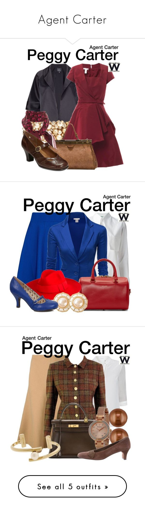 """""""Agent Carter"""" by lissy-g ❤ liked on Polyvore featuring Adrianna Papell, Valentino, Oscar de la Renta, Emili, Gucci, A2 by Aerosoles, television, wearwhatyouwatch, Ted Baker and Kenzo"""