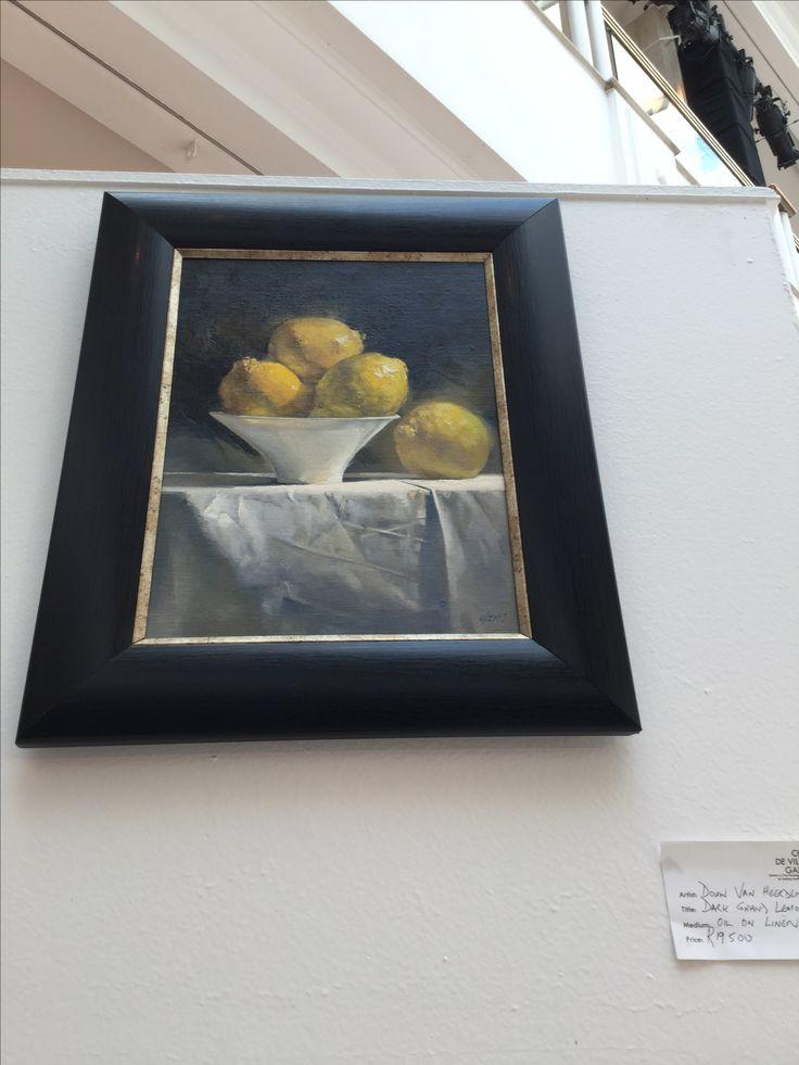 "#ChérieDeVilliersGallery ""Dark Grand Lemons"" by Douw van Heerden, oil on linen. #Art #Johannesburg #September2016"