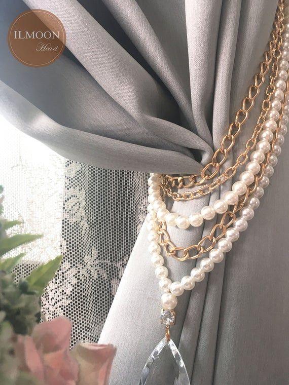 Luxury Drapery Elegant Tie Back Curtain Tie Backs Hold Backs