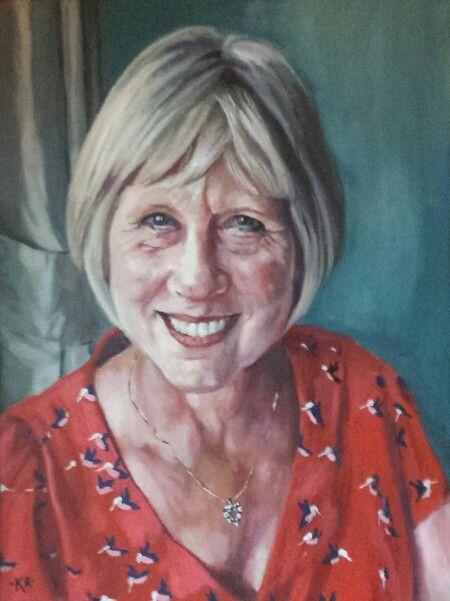 Oil portrait on canvas www.pastelesta.co.uk