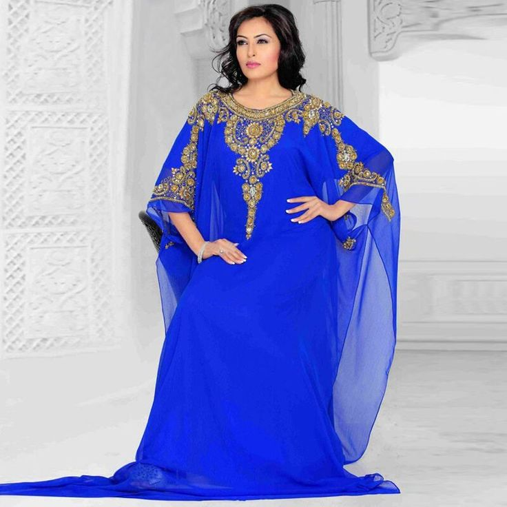 Aliexpress.com : Buy Wonderful Chiffon Royal Arabic Dubai Moroccan Kaftan Dress Abayas Kaftans Robe De Soiree Women Royal Blue Evening Dresses Gown from Reliable dresse suppliers on Lowime Boutique Store  | Alibaba Group