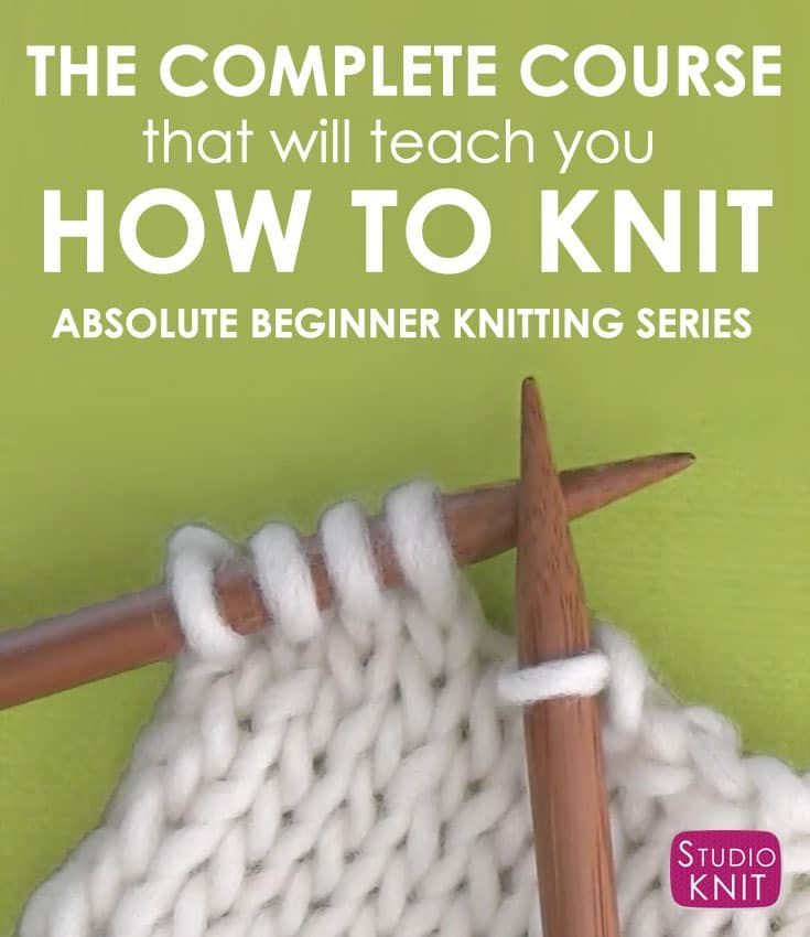Learn How To Knit With The Absolute Beginning Knitters By
