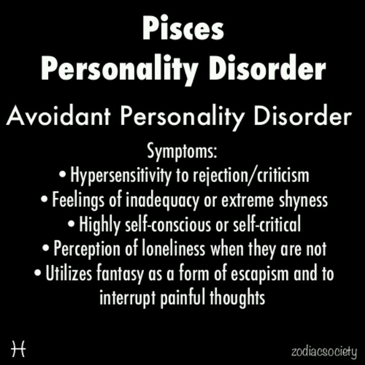pisces personality disorder Inspirational Pinterest