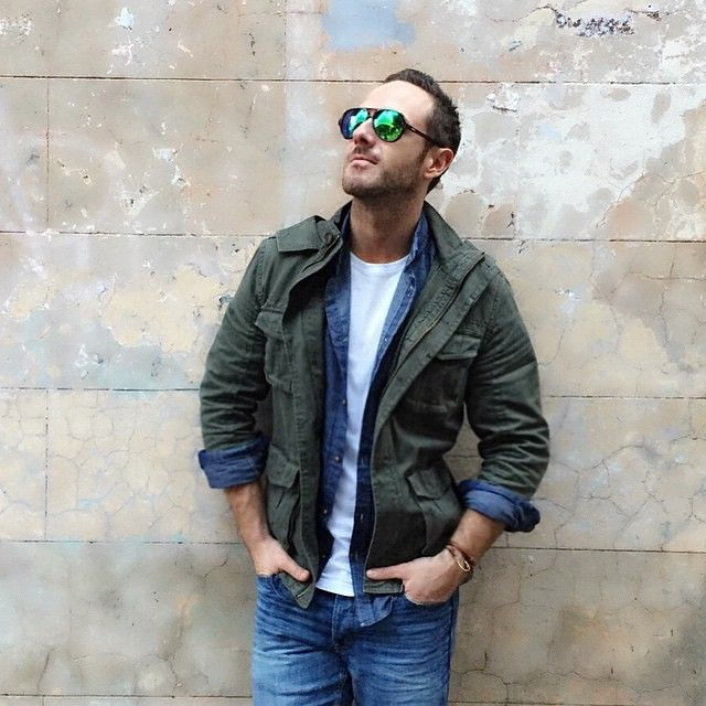 Monday style inspiration from @DonnyGalella, featuring our men's utility jacket $69.