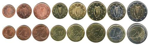 These coins are currently circulating in Ireland as money.