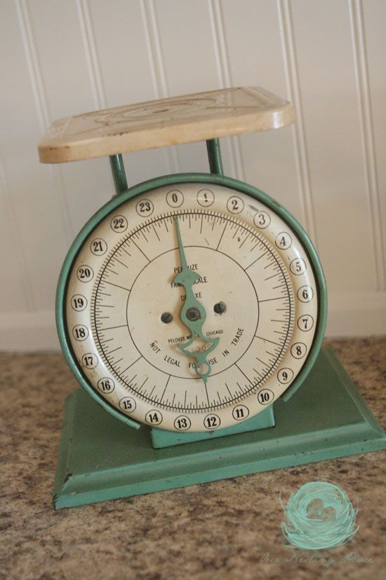 I Like The Vintage Scales In Kitchen
