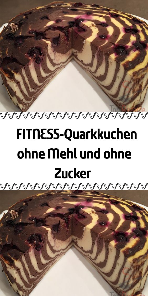 FITNESS quark cake without flour and without sugar