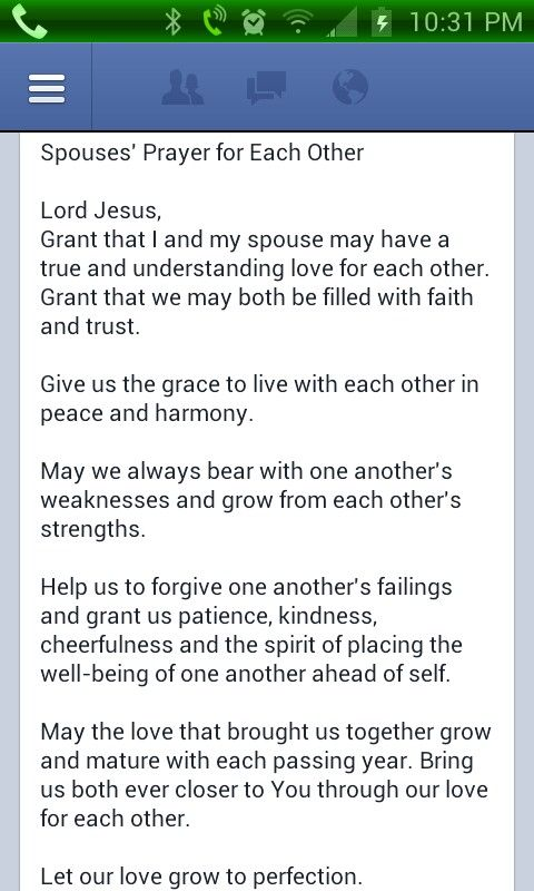 Couples prayer
