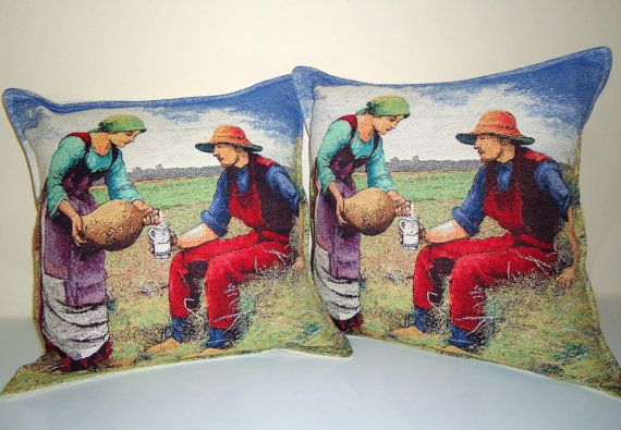 Set of 2 Woven Pillow Cover for Home Decor by BOHEMIANPILLOW, $145.00
