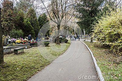 Batowice Cemetery, the largest municipal cemetery in  Krakow, Poland.