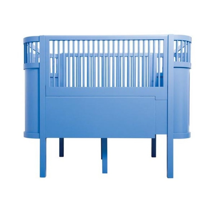 Sebra Cot Bed in Blue - Kidsen.co.uk