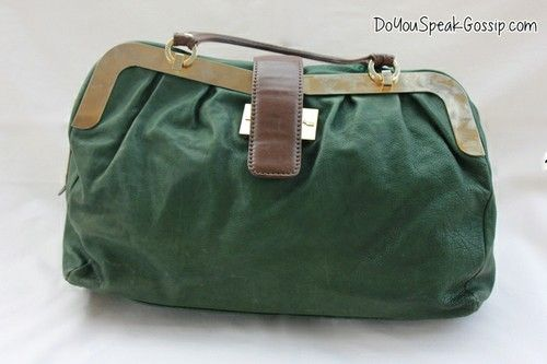 Luis Onofre green leather bag (second hand) FOR SALE ON MY SHOP. Click on the picture to see more photos and details and shop it now! doyouspeakgossip.tictail.com