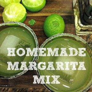 Try this easy homemade margarita mix to make delicious margaritas without the scary ingredients in the store-bought stuff. Plus, my margarita recipe!