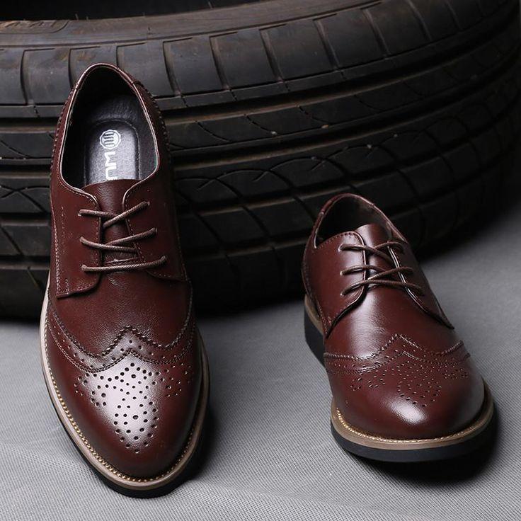 Italian Luxury Designer Formal Mens Dress Shoes - Genuine Leather