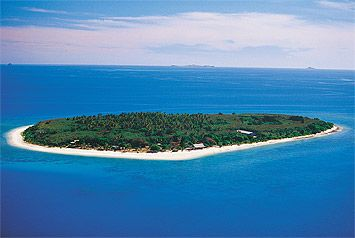 Bounty Island, Fiji, a tiny island you can walk around in twenty minutes, someday I will be back there.