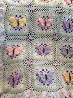 butterfly baby blanket crochet pattern - Google Search