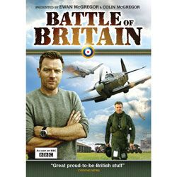 "Battle of Britain DVD ""Great proud-to-be-British stuff"" - Evening News To mark the Battle of Britain's 70th Anniversary, actor Ewan McGregor and his brother Colin, a former RAF pilot, lead viewers through key moments of the action when ""The Few"" of the RAF faced the mighty Nazi Luftwaffe. Together, the brothers take us on a journey to honor the heroes of 1940, bringing the amazing story of the Battle of Britain to a new generation. As Spitfires and Hurricanes once again fly over the White…"