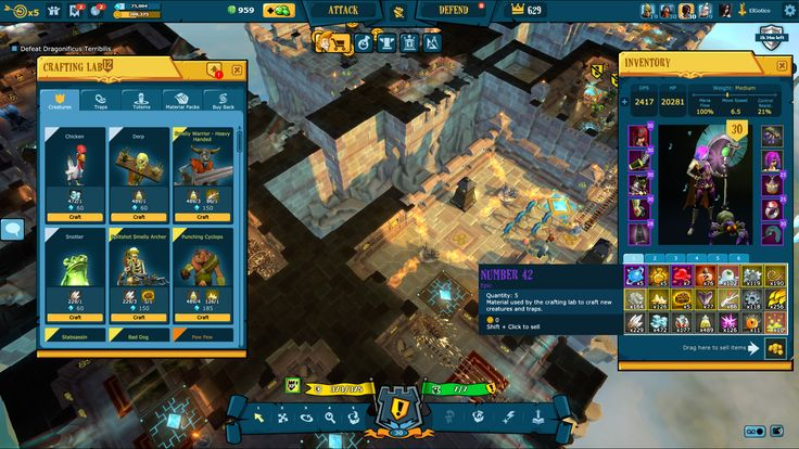 The Mighty Quest for Epic Loot (Ubisoft 2015) Castle UI