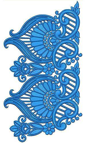 Selwar Embroidery Design