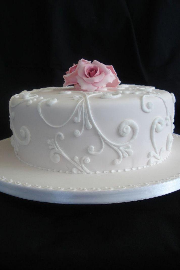 Wedding Cakes Simple One Layer Birthday Cake For Women Simple Birthday Cake For Women Elegant Simple Wedding Cake