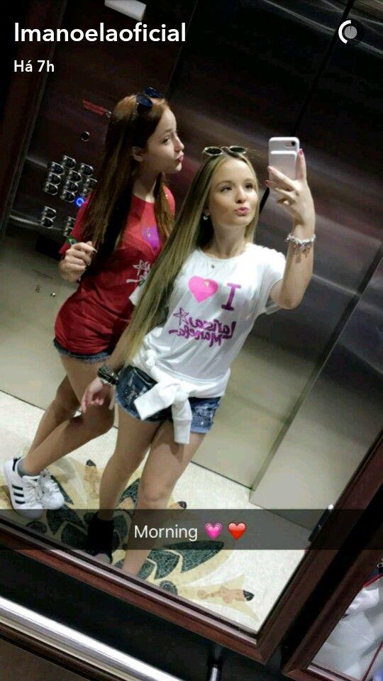 Larissa Manoela e Mharessa nos EUA