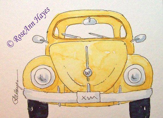 Yellow VW Beetle Bug