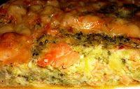 Эликсир молодости: Киш с брокколи, лососем и сыром чеддер
