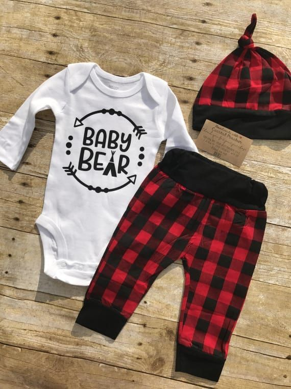 Baby Bear Outfit Coming Home Outfit Buffalo Plaid Baby Boy Etsy Baby Bear Outfit Coming Home Outfit Bear Outfits