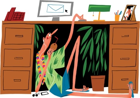 """Colin Jost: """"Automatic Reply"""" : The New Yorker....and this is how to hide under your desk to take a break...."""