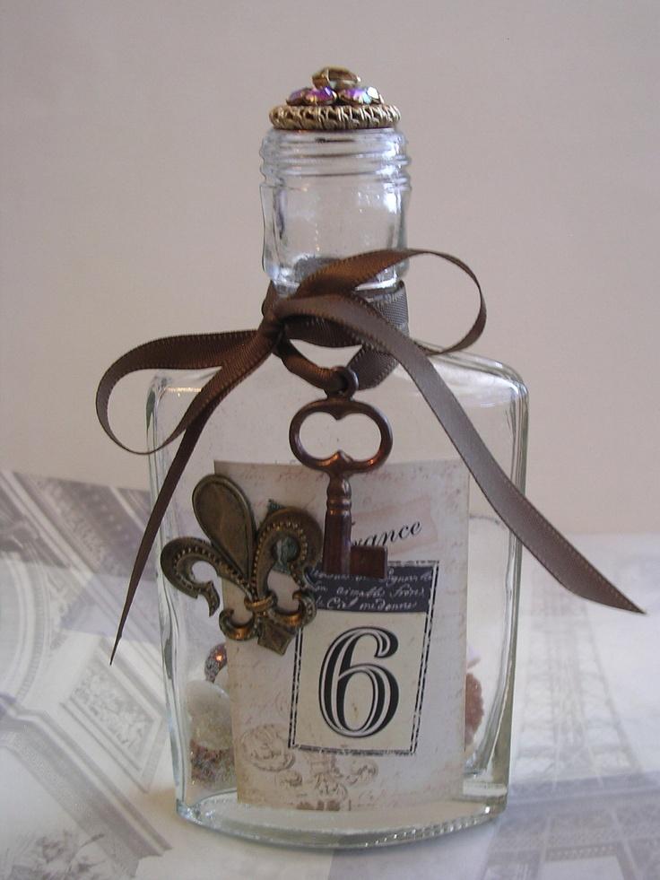 vintage decorated bottles - Google Search
