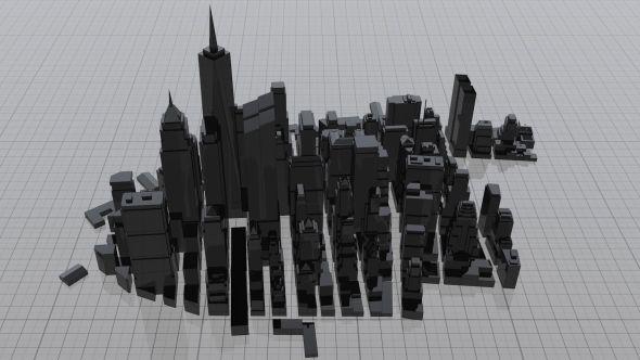Architecture Blueprint Metal City