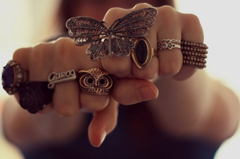 Rings rings rings: Butterfly, Fashion, Style, Owl, Jewelry, Rings, Things, Accessories
