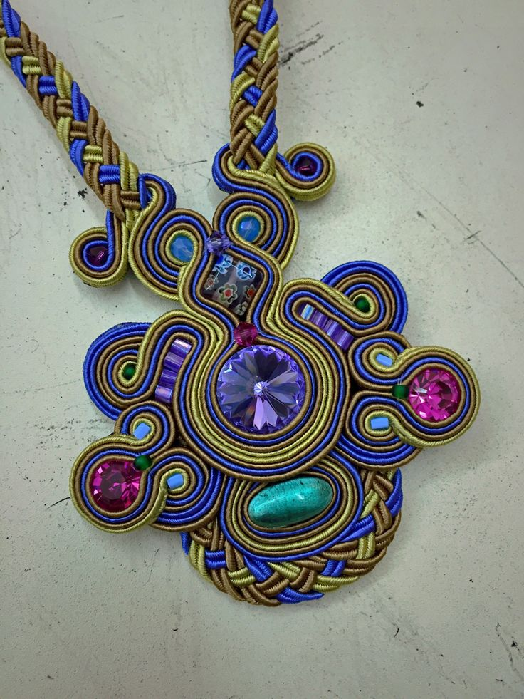 Iris purple casual pendant by Dori Csengeri #DoriCsengeri #purple #pendant…