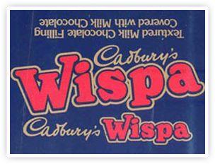 Cadbury Wispa packaging in 1981